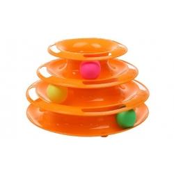 Hračka pre mačky - veža s loptičkami