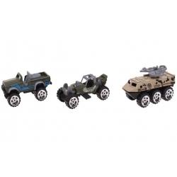 Sada 3ks vojenských autíčok