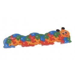 Vzdělávací drevené puzzle húsenica