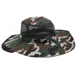 Rybársky klobúk maskáčový vzor 1