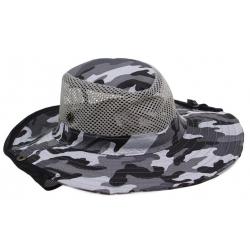 Rybársky klobúk maskáčový vzor 2