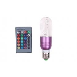 Farebná LED žiarovka s ovládačom