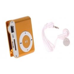 Kompaktný MP3 prehrávač oranžový