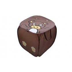 Úložný box na hračky medvedík hnedý