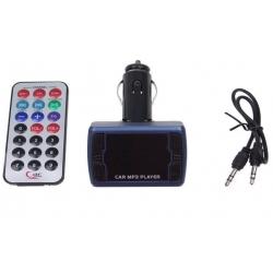 Bluetooth handsfree do auta s ovládačom modré