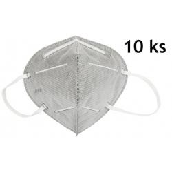 Respirátor KN95 šedý 10ks
