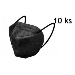 Respirátor KN95 10ks čierny