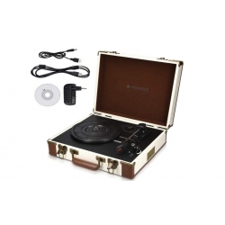 Gramofón v retro kufríku