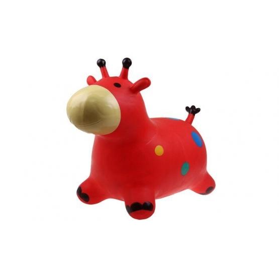 Hopsadlo pre deti - kravička červená